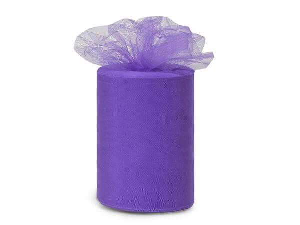 "Lavender Tulle Ribbon, 6""x100 yards"