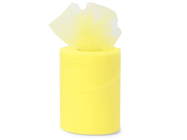"Yellow Lemon Premium Tulle Ribbon, 6""x100 yards"