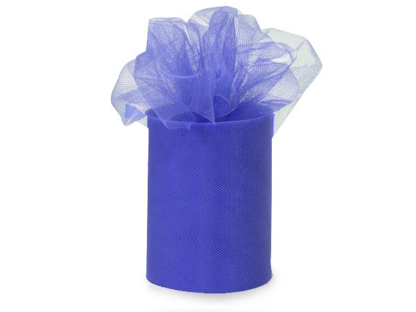 "Royal Blue Premium Tulle Ribbon, 6""x100 yards"