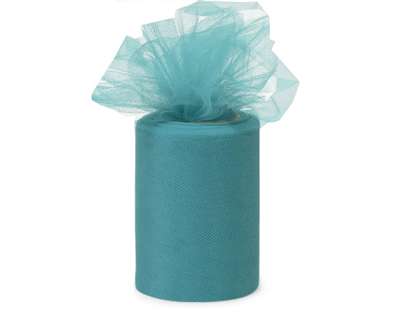 "Teal Tulle Ribbon, 6""x100 yards"