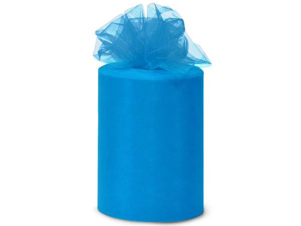 "Turquoise Tulle Ribbon, 6""x100 yards"