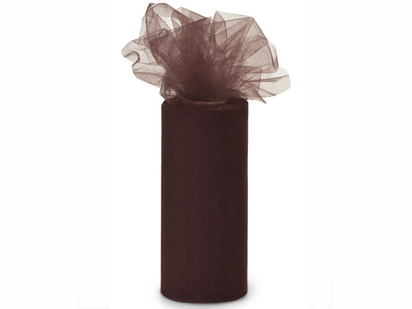 "Chocolate Tulle Ribbon, 6""x25 yards"
