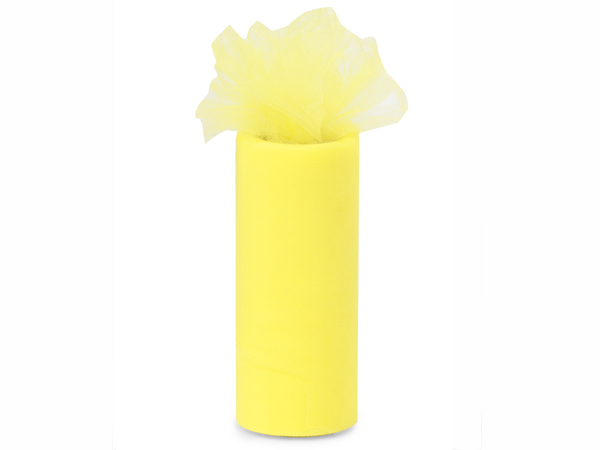 "Yellow Lemon Premium Tulle Ribbon, 6""x25 yards"