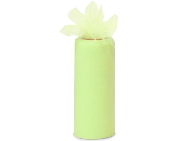 "Mint Green Premium Tulle Ribbon, 6""x25 yards"