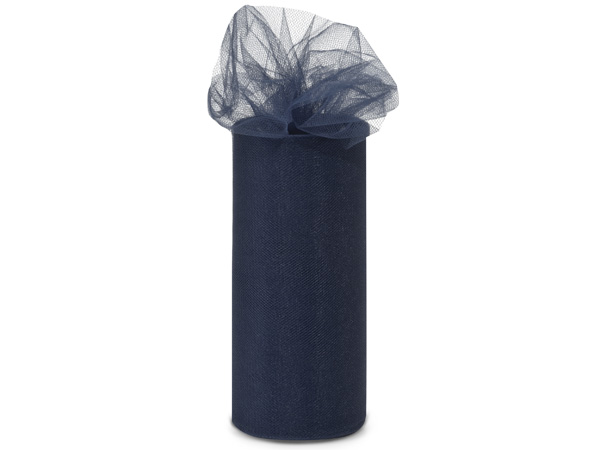 "Navy Blue Tulle Ribbon, 6""x25 yards"