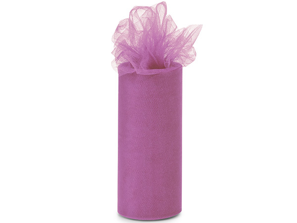 "*Radiant Orchid Tulle Ribbon, 6""x25 yards"