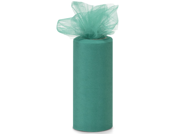 """Teal Tulle Ribbon, 6""""x25 yards"""