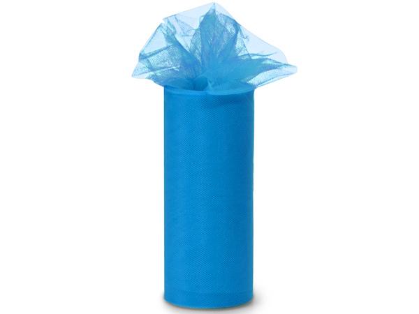 "Turquoise Tulle Ribbon, 6""x25 yards"