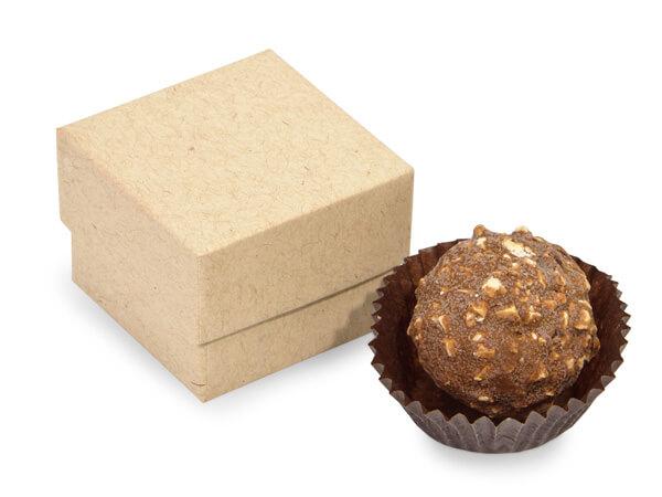 "Brown Kraft Single Truffle Box, 1.5x1.5x1.25"", 24 Pack"