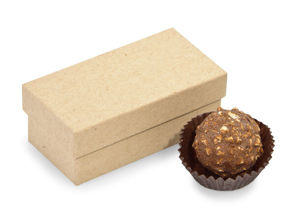 "Brown Kraft Single Truffle Box, 3.25x1.5x1.25"", 24 Pack"