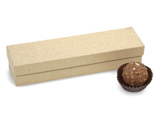 "Brown Kraft 5 Piece Truffle Box, 6.5x1.5x1.25"", 24 Pack"