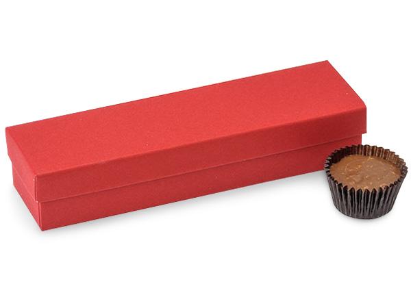 "Red 5 Piece Truffle Box, 6.5x1.5x1.25"", 24 Pack"