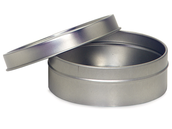 "Tin Can Favor Box with Solid Lid, 3x1"", 12 Pack"