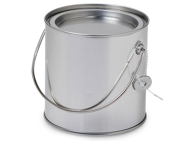 "*Solid Paint Can Pail with Handle, 4x4"", 6 Pack"