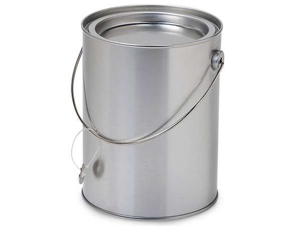 "*Solid Paint Can Pail with Handle, 4x5"", 6 Pack"