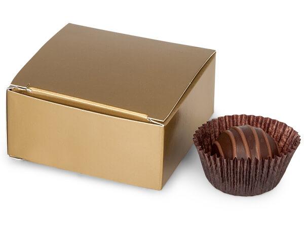 Matte Gold Truffle Boxes