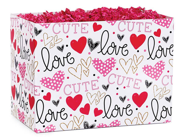 """Too Cute Basket Boxes, Large 10.25x6x7.5"""", 6 Pack"""