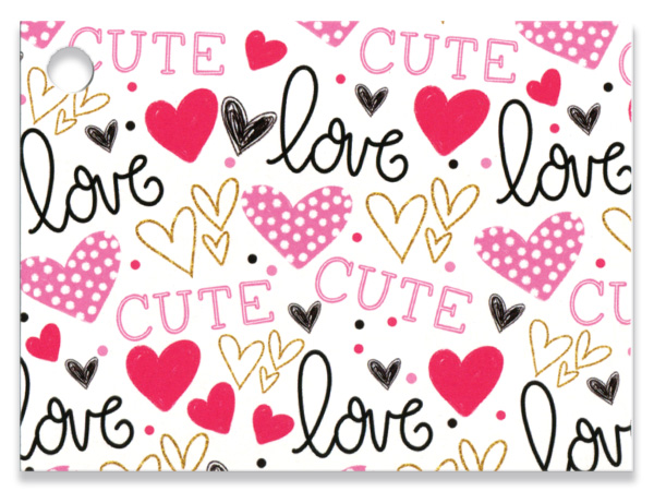 """Too Cute Theme Gift Cards 3.75x2.75"""", 6 Pack"""