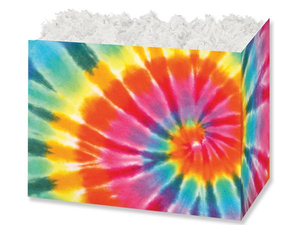 """Tie-Dye Basket Box, Large 10.25x6x7.5"""", 6 Pack"""