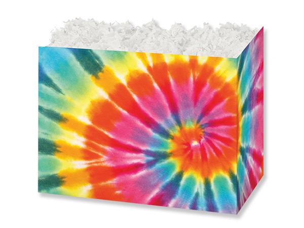 "Tie-Dye Basket Box, Small 6.75x4x5"", 6 Pack"