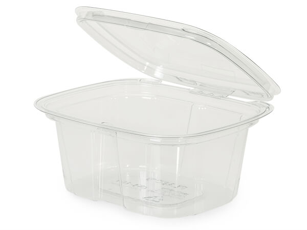16oz Clear Hinged Container, Tamper Evident 70 Pack