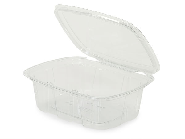 24oz Clear Hinged Container, Tamper Eviden 82 Pack