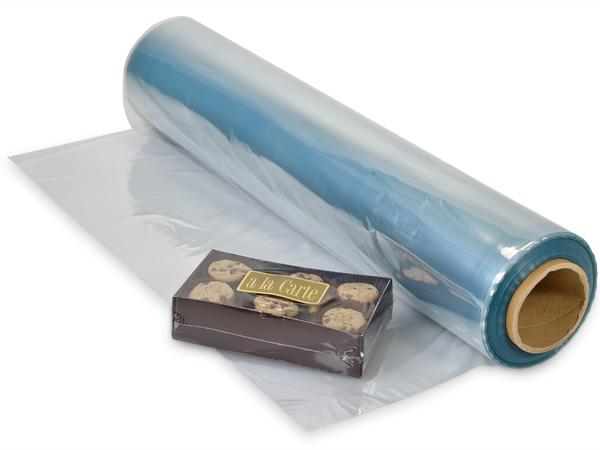 "28""x250' Clear PVC Tube Film 100 Gauge"
