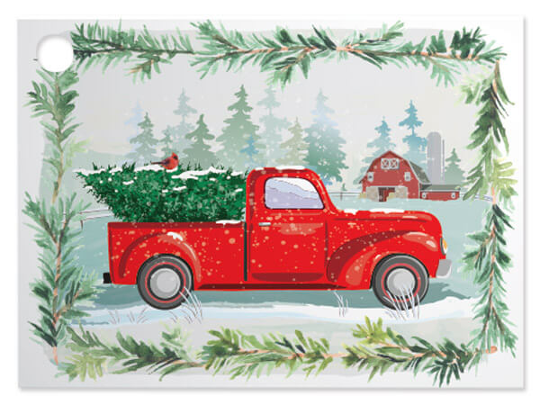 Tree Farm Christmas Truck Theme Gift Cards, 3.75x2.75, 6 Pack