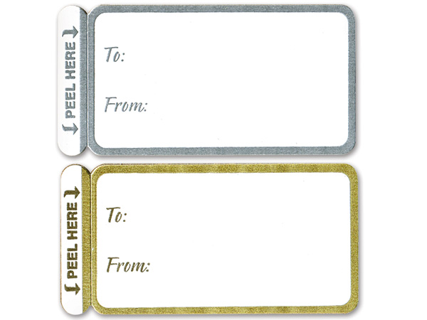 Gold & Silver To From Gift Labels 100 Pack, 50 each Gold & Silver