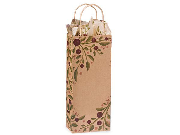 "Wine Tuscan Harvest Paper Bags 250 Pk 5-1/2x3-1/4x13"""