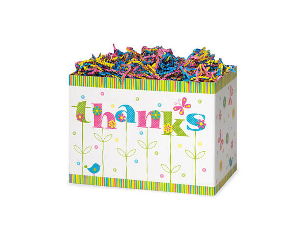 "Thanks In Bloom Basket Boxes, Small 6.75x4x5"", 6 Pack"