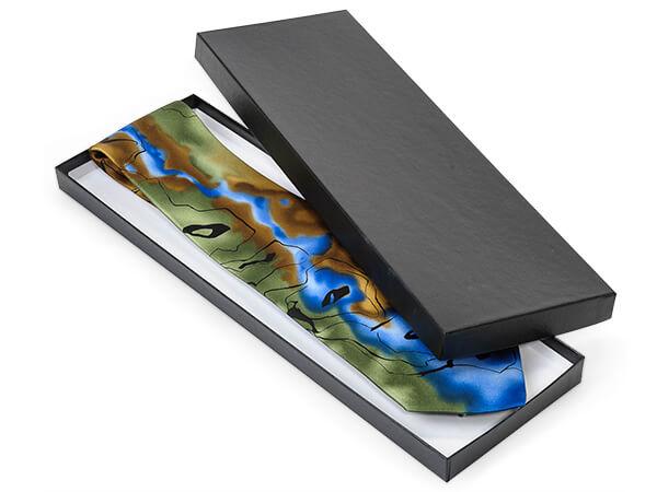 14x4.5x.75 Black Embossed Tie Boxes