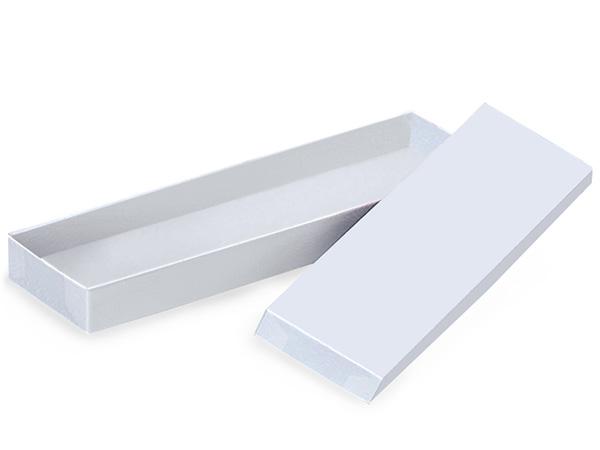 "14x4-1/2x3/4"" White Gloss Tie Box"