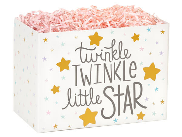 """Twinkle Little Star Basket Boxes, Large 10.25x6x7.5"""", 6 Pack"""