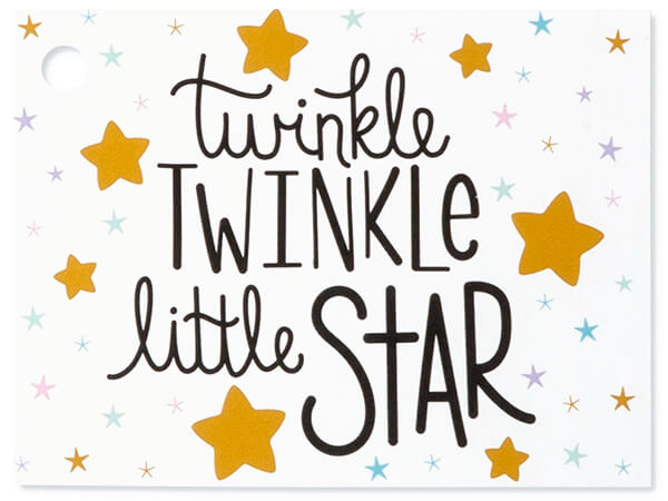 Twinkle Little Star Theme Gift Cards, 3-3/4x2-3/4""