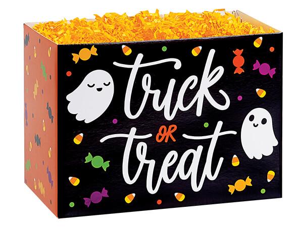 "Trick or Treat Basket Box, Large 10.25x6x7.5"", 6 Pack"