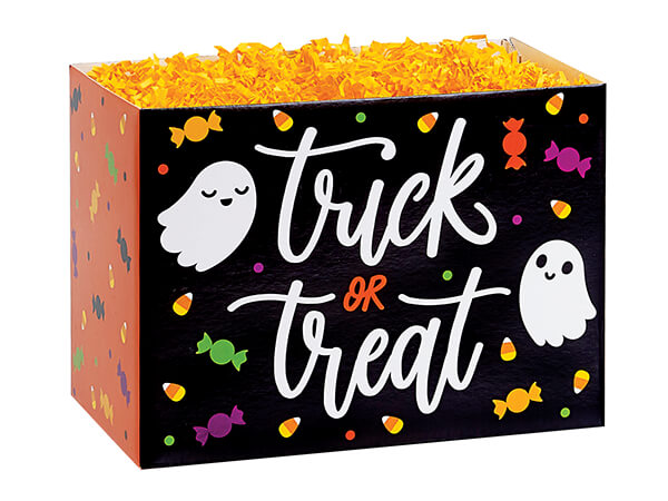 """Trick or Treat Basket Boxes, Small 6.75x4x5"""", 6 Pack"""