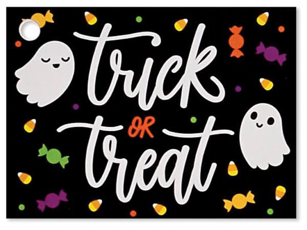 """Trick or Treat Theme Gift Cards 3.75x2.75"""", 6 Pack"""