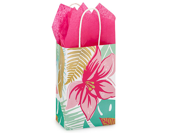 "Rose Tropical Paradise Bags 250 Pk 5-1/4x3-1/2x8-1/4"""