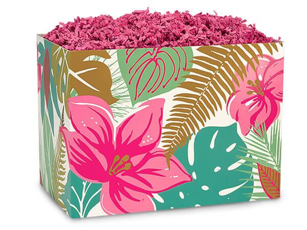 "Large Tropical Paradise Basket Boxes 10-1/4x6x7-1/2"""