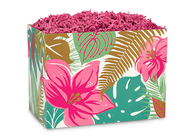 Small Tropical Paradise Basket Boxes 6-3/4x4x5""