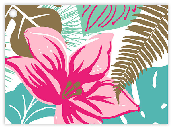 Tropical Paradise Theme Gift Cards 3-3/4x2-3/4""