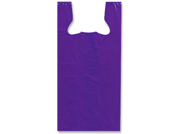 "Purple Recycled Plastic T Sack, Medium11.5x6.5x21.5"", 1000 Pack"