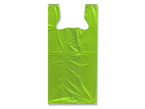 "Citrus Recycled Plastic T Sack, Small 7x5x15"", 1000 pack,  .60 mil"