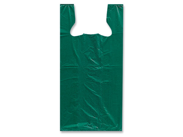 "Green 100% Recycled T Sacks 20x10x30"" .75 mil - Large"