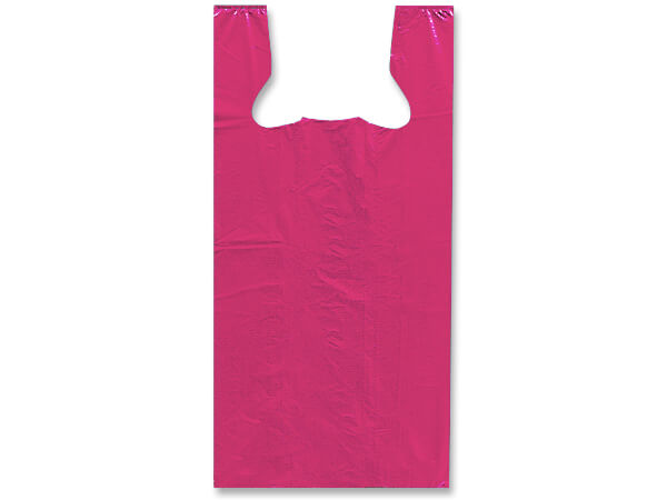 "*Pink 50% Recycled T Sacks 20x10x30"" .75 mil - Large"