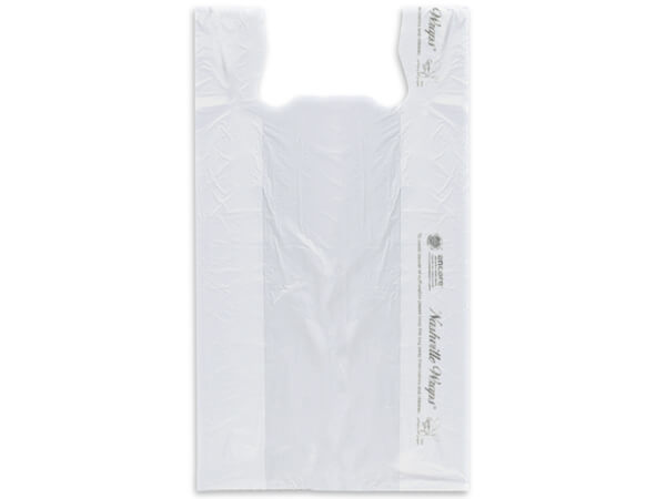 "Clear T Sacks 12x7x22"" Recycled Clear .65 mil"