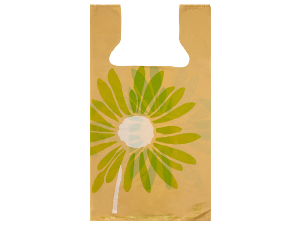 """Painted Daisies 100% Recycled T Sack 11.5x6.5x22"""" .75 mil 2-side"""