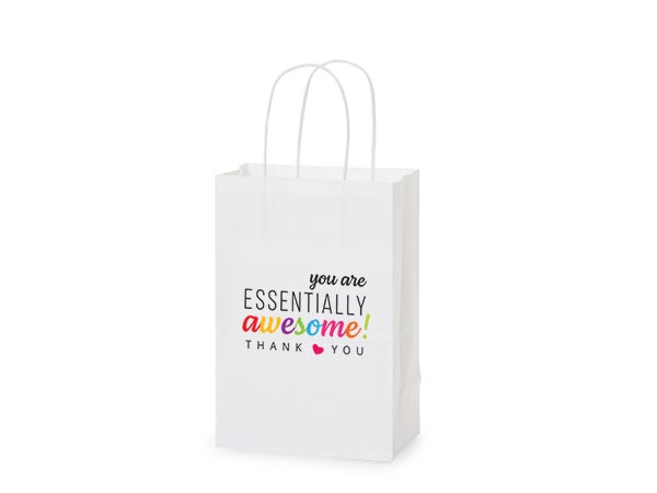 "Thank You Essentially Awesome Gift Bags, Rose 5.5x3.25x8.25"", 5 pack"