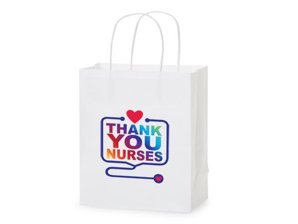 """Thank You Nurses Gift Bags, Cub 8x4.75x10.25"""", 5 pack"""